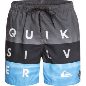Quiksilver Word Block Volley 17 - Bañadores Hombre - gris/azul